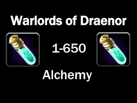 WoD Alchemy Leveling Guide! 1-650 In Under 10 Minutes!