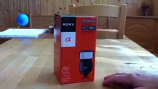 sony HVL-F43AM unboxing