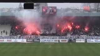 02.03.2014 Cracovia - Śląsk Wrocław 0:1 OPRAWA (WikiPasy.pl)