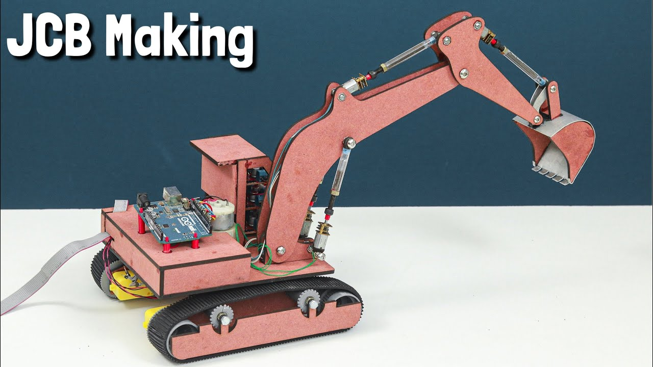 How To Make a Remote Control Arduino JCB / Excavator at Home | Arduino Project