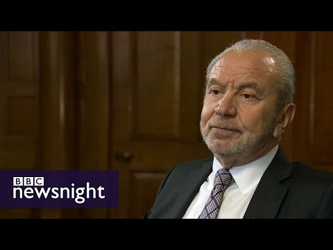 Alan Sugar talks Donald Trump, Labour Party and business - BBC Newsnight