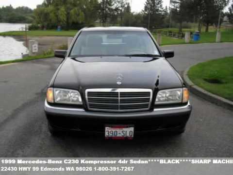 1999 mercedes benz c230 kompressor 4dr sedan black for 1999 mercedes benz c230