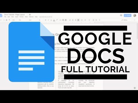 Google Docs - Full Tutorial 2018