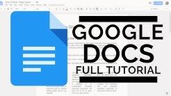 Google Docs - Full Tutorial