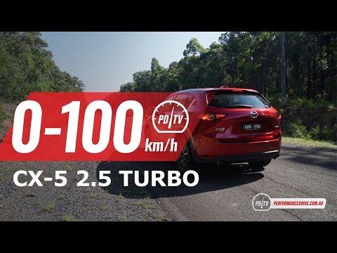 2019 Mazda CX-5 2.5 Turbo (petrol) 0-100km/h & Engine Sound