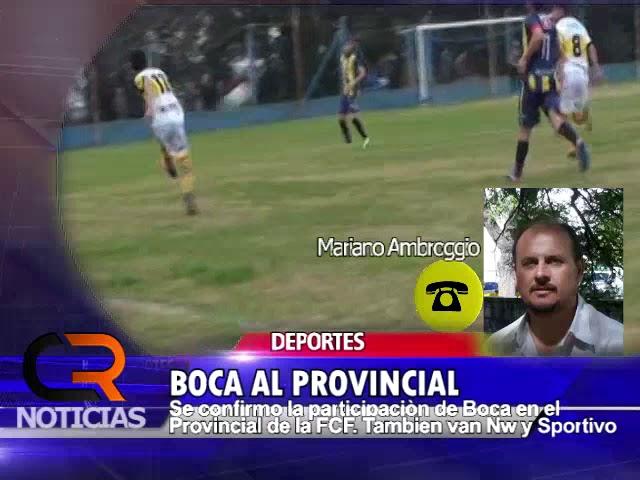 Boca de Camilo Aldao jugará el Provincial de la FCF - Nota con Mariano Ambroggio