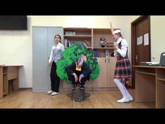 """Изображение предпросмотра прочтения – «Театр-студия """"Гармошка""""» читают произведение «Ворона и Лисица» И.А.Крылова"""