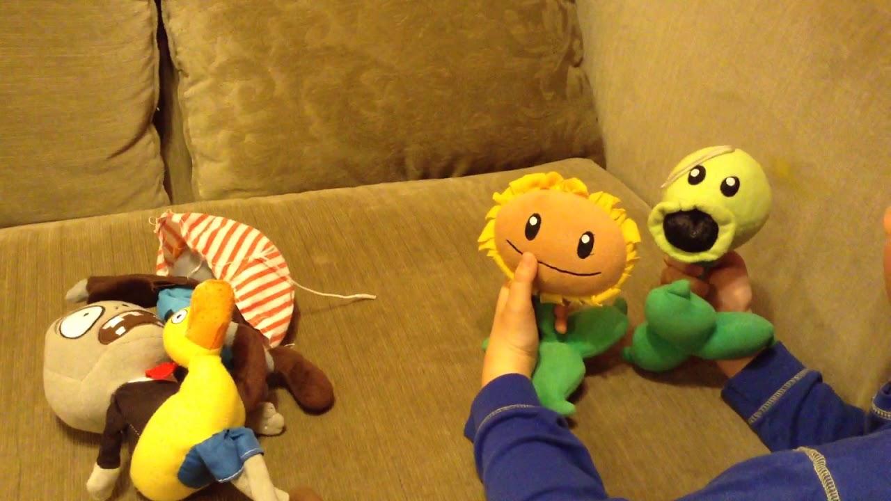 Plants vs zombies plush toys ep 1 sunflower meets ...