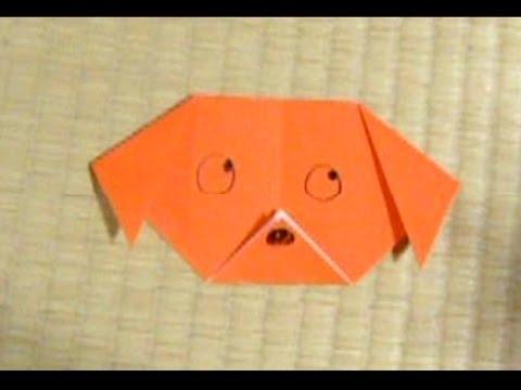 クリスマス 折り紙 折り紙 犬 折り方 : youtube.com
