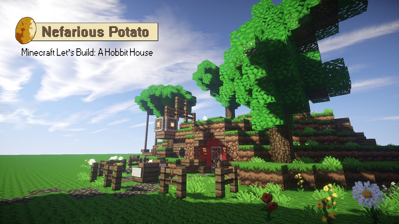 How To Build A Hobbit House Minecraft Lets Build A Hobbit House Youtube