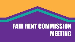 Fair Rent Commission Virtual Meeting of April 29, 2021