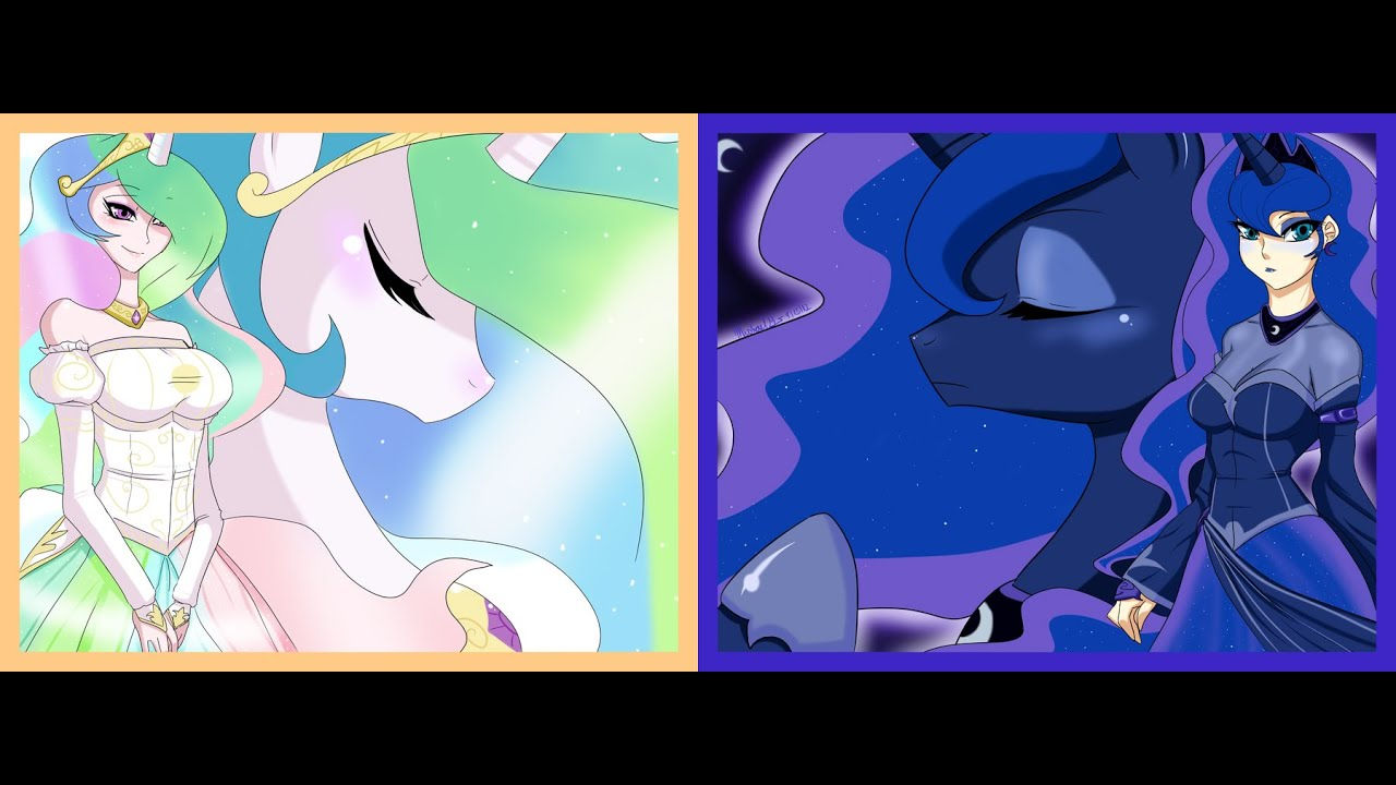 my little pony coloring book princess celestia vs luna mlp