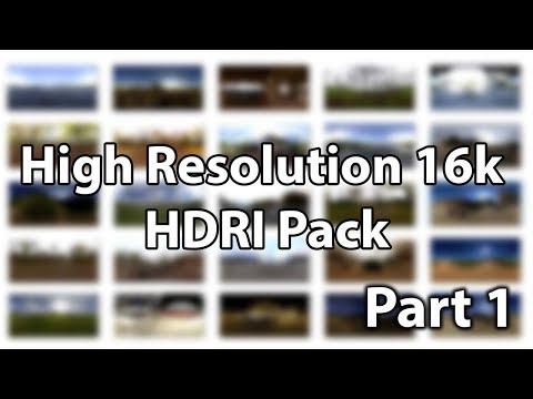High Resolution (16k) HDRİ Pack - Part 1 / 360 Degree