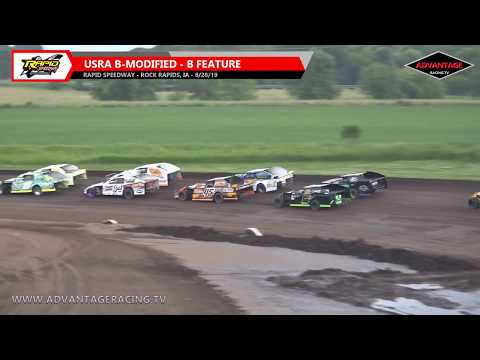 Hobby + B-Modified B's/Sportsman A Feature - Rapid Speedway - 6/28/19