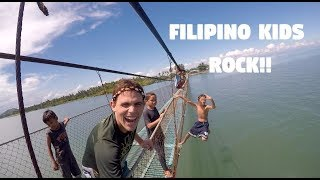 Filipino Kids Jumping Off Bridges... (Canadian In Mindanao)