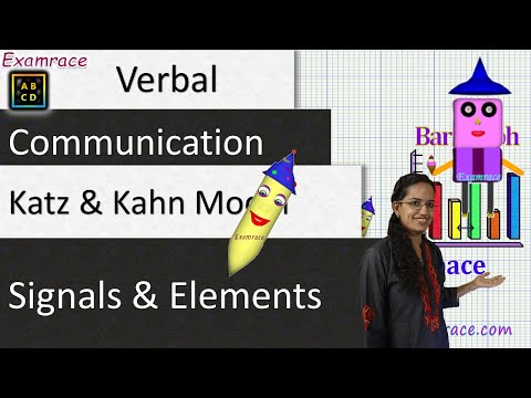 Verbal Communication: Katz & Kahn Model, Signals And Elements