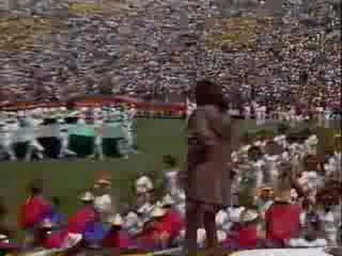 PELE and Whitney Houston 1994 FIFA World Cup closing ceremonies at the Rose Bowl in Pasadena, CA, on Jul. 17 1994