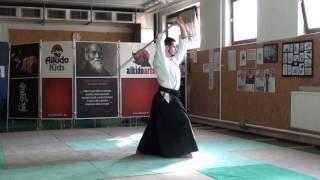zengo no ido menuchi ushiro tsuki [TUTORIAL] Aikido advanced weapon technique