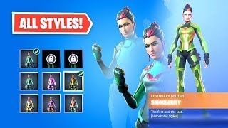 How to UNLOCK FORTNITE SINGULARITY STYLES - ALL 5 HIDDEN HELMET LOCATIONS