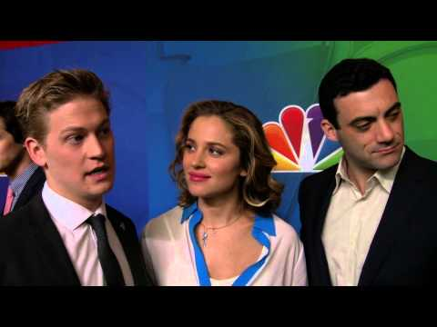 ALLEGIANCE: Gavin Stenhouse, Margarita Levieva, & Morgan Spector NBC Upfronts TV