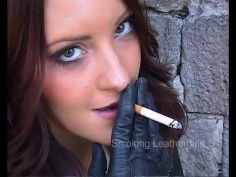 Vicky 4 - Smoking in Miss Sixty Leather Pants and Gloves