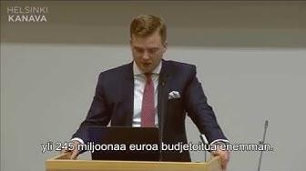 Otto Meri Helsingin kaupunginvaltuuston kokouksessa