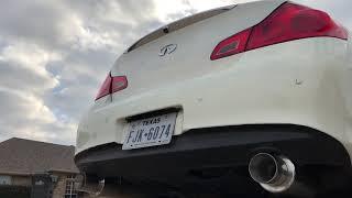 G37 sedan DC Sport exhaust