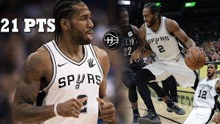 Kawhi Leonard has his BEST GAME of the Season!! Spurs vs Nets!