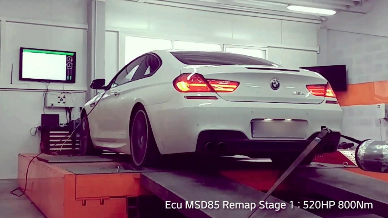 BMW F13 650xi 408HP - STAGE 1 - 520HP 800Nm - Dyno Run ...
