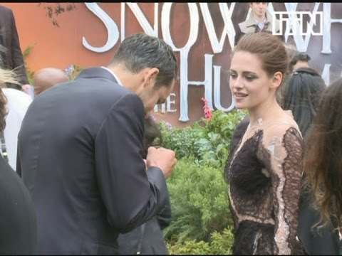 Kristen Stewart and Rupert Sanders at Snow White And The Huntsman premiere, London