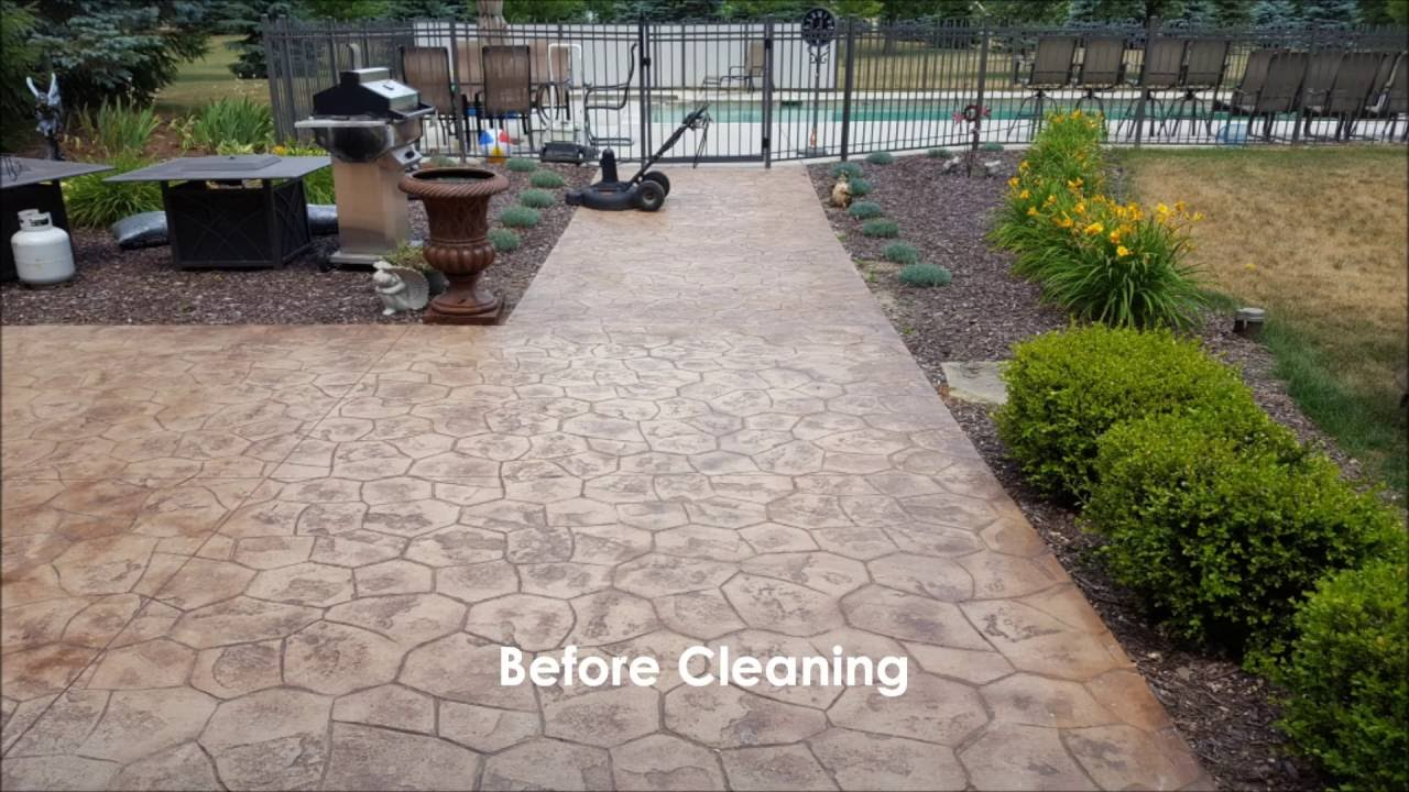 Stamped Concrete Cleaning And Sealing Rendall S Cleaning