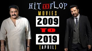 Mohanlal vs Mammootty Hit & Flop movies  2009 - 2019 April