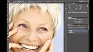 Как быстро убрать морщины в фотошопе