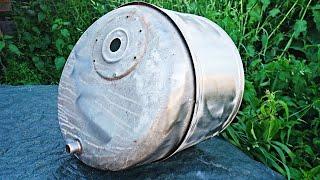 Простая самоделка из бака стиральной машины! Емкость для сбора металла!