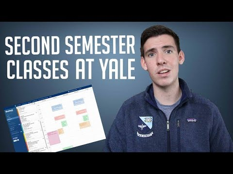 MY CLASSES FOR MY SECOND SEMESTER AT YALE!!