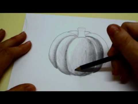 pumpkin drawing with shading. shade with pencils - how to carbon 6b pumpkin drawing shading l