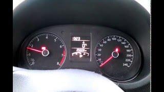 Volkswagen Polo 2014 1,6 прогреваем двигатель при -19 градусах