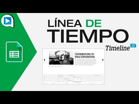 Línea De Tiempo En Hoja De Cálculo Con Timeline JS