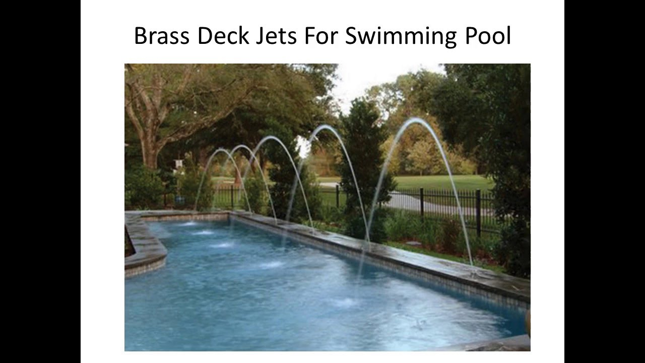 Brass&Stainless Steel Pool Deck Jets - YouTube