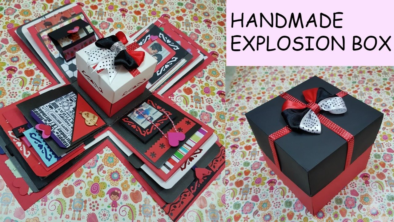 Gift Idea Explosion Box For Friend Surprize Box Birthday