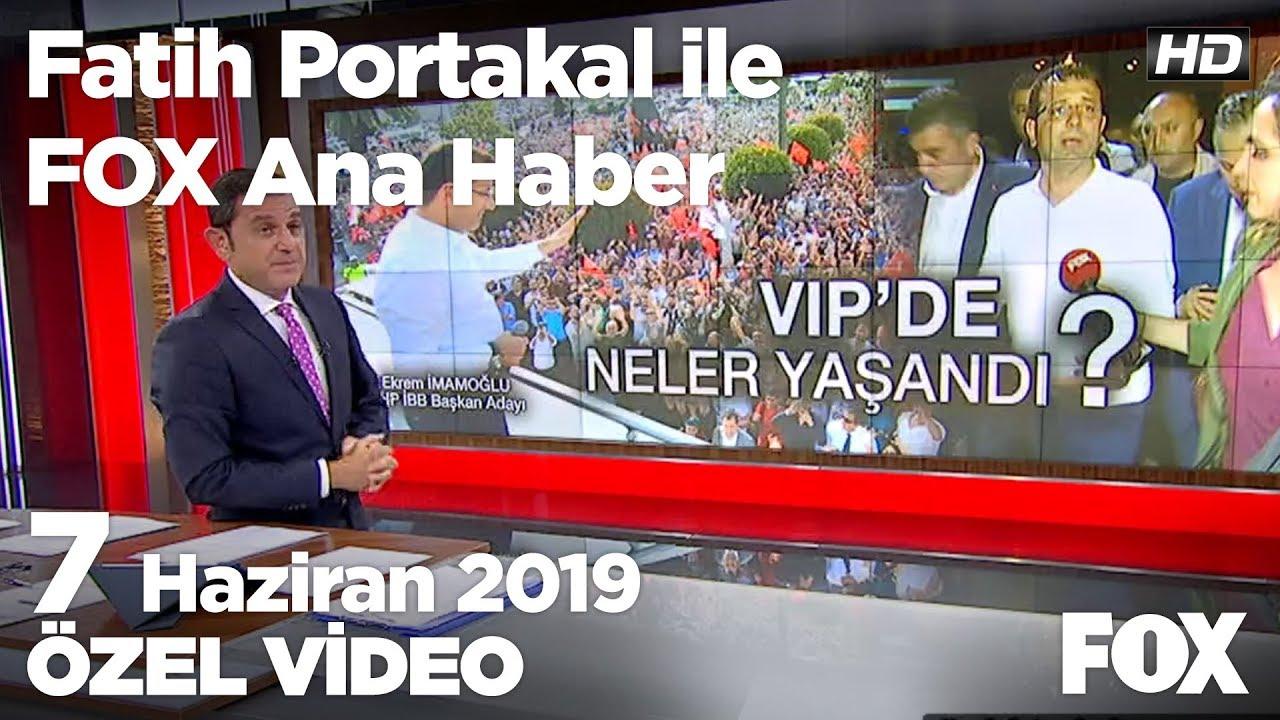 Havalimanındaki VIP tartışması... 7 Haziran 2019 Fatih Portakal ile FOX Ana Haber