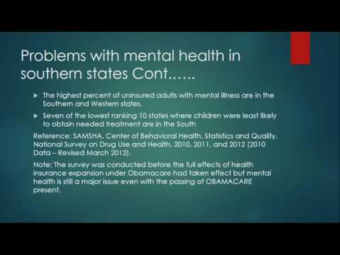 Mental Healthcare Funding in the Southern United States