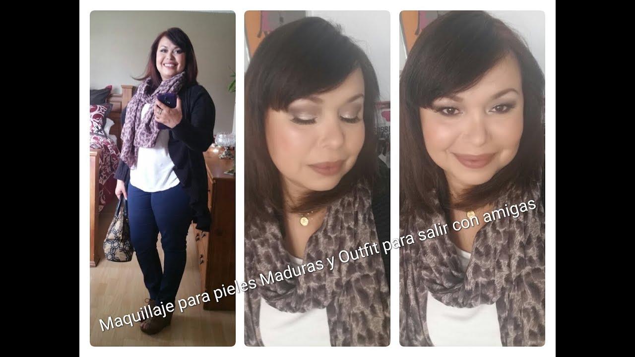 Amigas Maduras maquillaje para pieles maduras y outfit para salir con amigas (colaborativo)