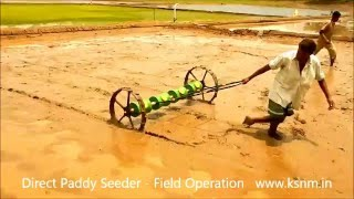Direct Paddy Seeder Field Operation