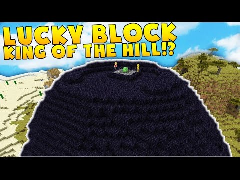 Minecraft KING OF THE HILL LUCKY BLOCK BATTLE MODDED MINIGAME! | Minecraft Mod Challenge