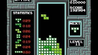 Tetris (nintendo) - TETRIS (NES) High Score - 539,000 - User video