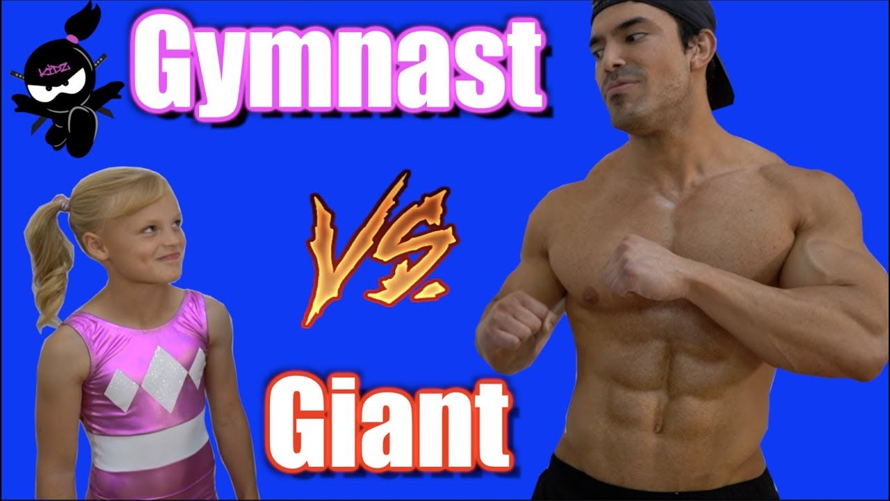 Gymnast vs Giant! Who is Stronger, Payton or the bodybuilder? #1