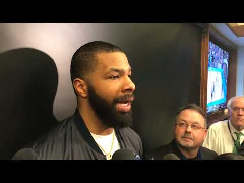 Marcus Morris, Boston Celtics forward, after standing ovation/ejection: '(Boston) is starting to love me'