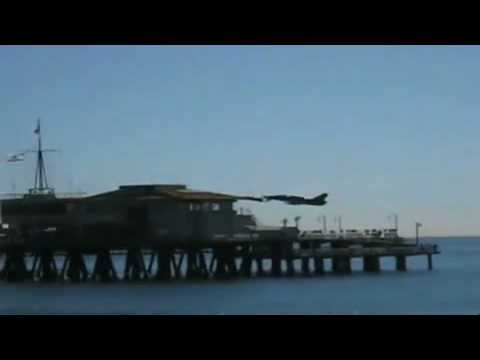 Military Jet Flying Extremely Low Buzzing Santa Monica Pier