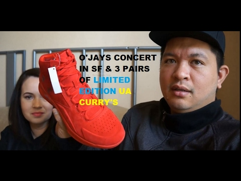 Limited edition UA Curry LUX shoes and watching the O'Jays Concert